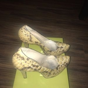Brand new Gianni Bini Frosted Taupe Shoe